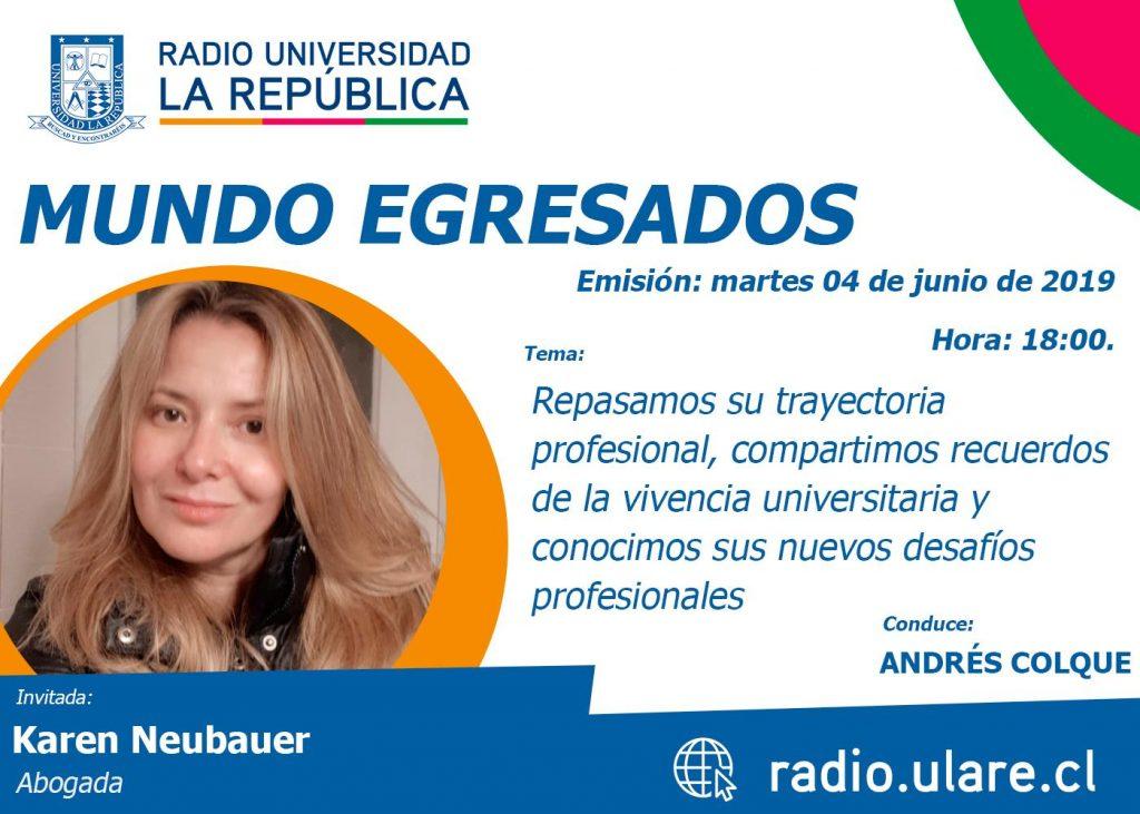 Mundo Egresados: Karen Neubauer